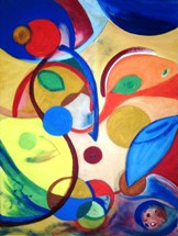 Хаосът - картина на Габриела Цанева
