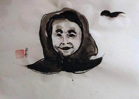 рисунка с туш на Венелина Петкова