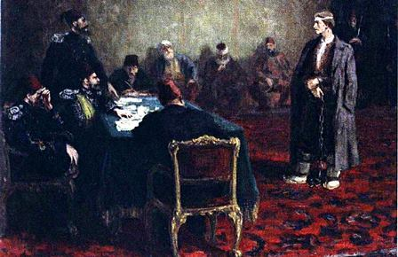 Левски пред съда - художник Сергей Ивойлов
