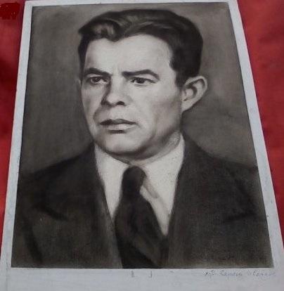 Портрет с въглен, худ. Сергей Ивойлов