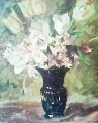 Ваза с цветя - худ. Сергей Ивойлов
