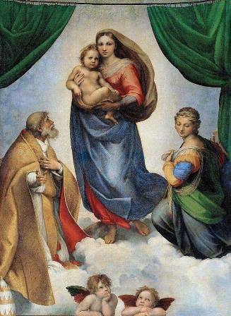 """""""Сикстинската мадона"""", 1512-1513, худ. Рафаело Санцио"""